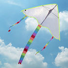 DIY Kite Painting without Handle Line Outdoor Toys Flying Rainbow Toy Kite Nylon Ripstop Fabric Kite