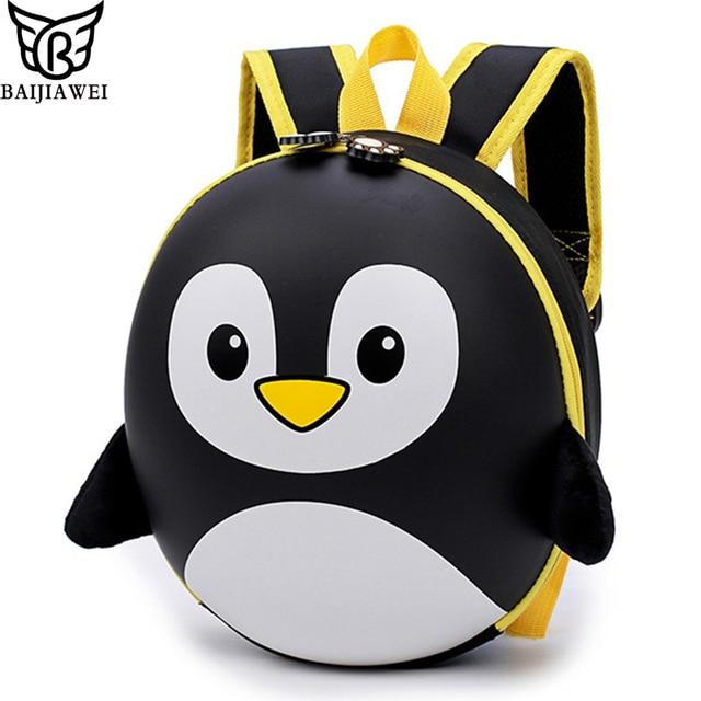 BAIJIAWEI New EVA Penguin Schoolbag Children Backpack Hard Shell Backpack  Cartoon Lovely Mini Shoulder Bag Kids 74a2778b13a91