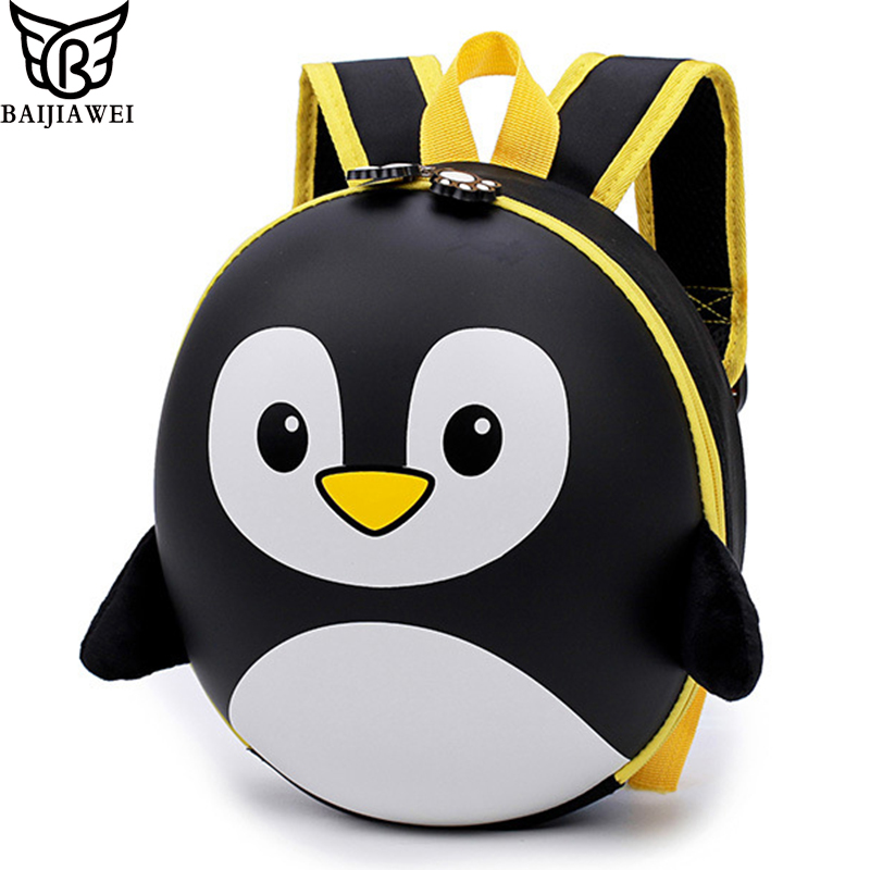 BAIJIAWEI New EVA Penguin Schoolbag Children Backpack Hard Shell Backpack Cartoon Lovely Mini Shoulder Bag Kids Cute Bags