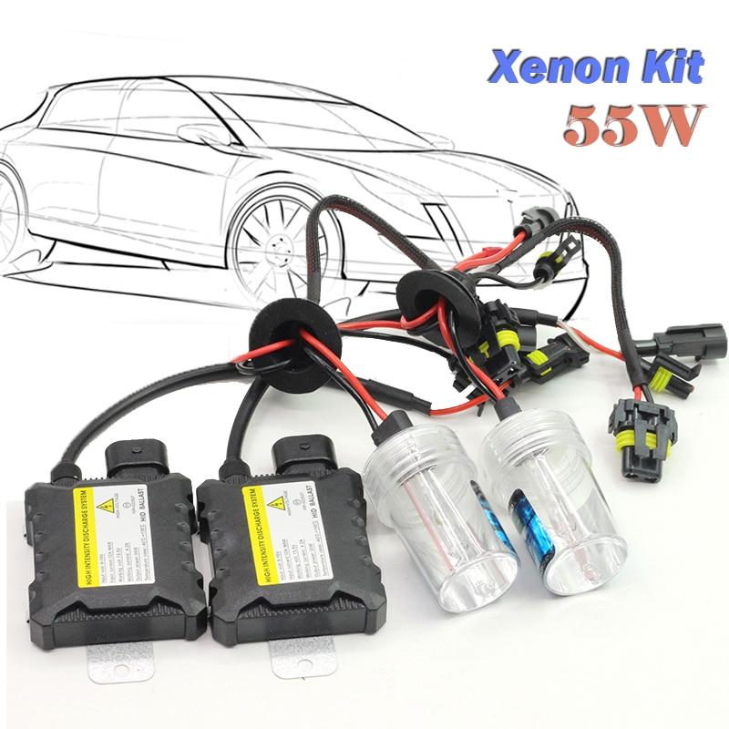 1 Set 55W H1 Xenon HID KIT Bulb Ballast 4300K 5000K 6000K 8000K 10000K 12000K 15000K Car Headlight Fog Driving Lamps