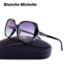 Blanche Michelle 2018 High quality Square Polarized sunglasses women Brand Designer UV400 Sunglass Gradient Sun Glasses With Box