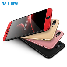 360 Degree Full Protective Phone Case Cover Hard PC Coverage Phone Case Shield for iPhone 8 стоимость