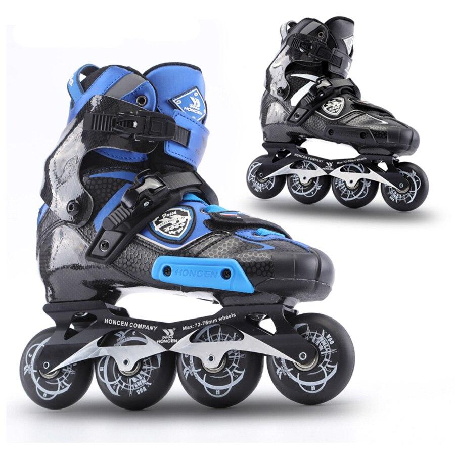 2019 de aumento de fibra de carbono profesional de Slalom Patines en línea para adultos de patinaje libre zapatos de Patines similares con SEBA IGOR