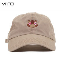 16ecebbedfbca Kanye West Bear Cap Peaked Cap Woman Baseball Cap Bear Embroidery Hat Dad  Cap Sports Hat For Men Sun Hat Fashion Snapback