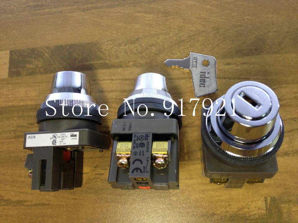[ZOB] Japan IDEC and ASN key switches with three bit key knob switch 30MM NC original  --5pcs/lot бокорез three mountain in japan sn130 3 peaks