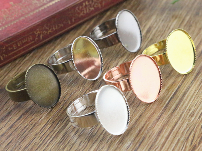 13x18mm 10pcs/Lot 6 Color Plated Brass Oval Adjustable Ring Settings Blank/Base,Fit 13x18mm Glass Cabochons13x18mm 10pcs/Lot 6 Color Plated Brass Oval Adjustable Ring Settings Blank/Base,Fit 13x18mm Glass Cabochons