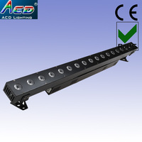 Good quality 18*15W 5in1 RGBWA high power led stage washer liner bar effect dj lights 6pcs/Lots