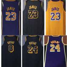 5bb6f1965e0 Hot 2018 2019 new mens lebron basketball jerseys james 23 8 24 kobe bryant  jerseys for
