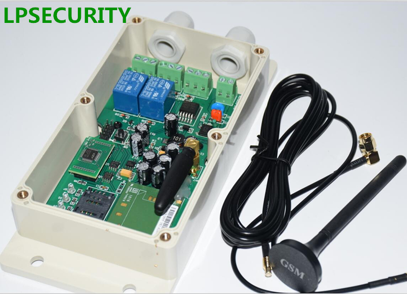LPSECURITY 2 relè Impermeabile 2000 utenti GSM GPRS Chiave A Distanza 2 Door Opener per porta Automatica del garage cancello con timer funzione