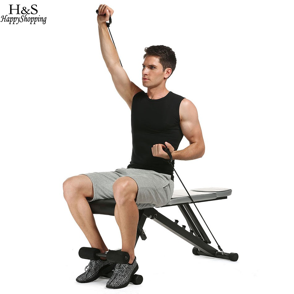 Ancheer Adjustable Indoor Exercise Bench Sit Up Benches Abdominal Exercise Benchs for Home Fitness Exercise Max load ancheer indoor folding magnetic upright exercise bike with pulse home gym cycling bike bicicleta estatica fitness equipment