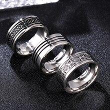 8 мм титановые кольца для мужчин и женщин подарок на день рождения треугольный узор дискретное кольцо