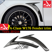 for Mercedes A Class W176 Fender Trim Carbon Fiber Side For Benz A180 A200 A250 A45 AMG 2012-18