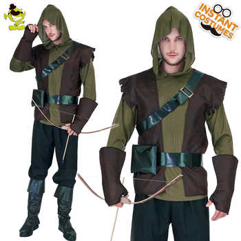 New high quality  Robin Hood costume Brave Green arrow man role play party Fancy clothing For Halloween party Masquerade Dress - DISCOUNT ITEM  6% OFF All Category