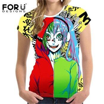 FORUDESIGNS 2018 Russian Matryoshka 3D Printing Women T-shirt O-Neck Short Sleeve Tshirts Fashion Summer Camisa Anime Feminina 1