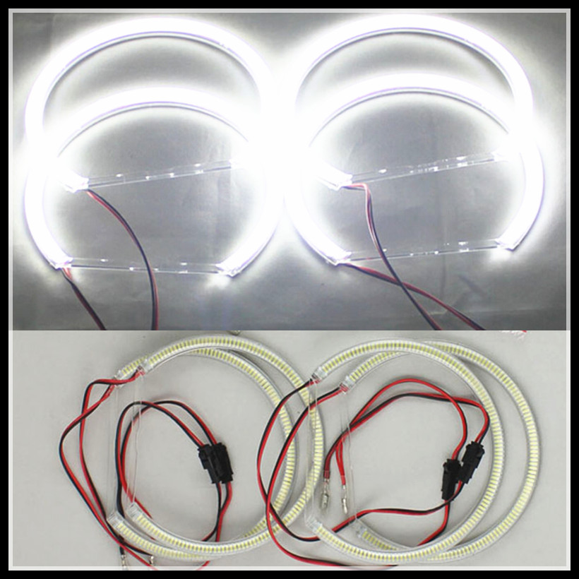 Rockeybright 120SMD led angel eye anneau pour BMW E36 E38 E39 E46 led halo anneau 131 pour bmw e46 projecteur phares led ange yeux