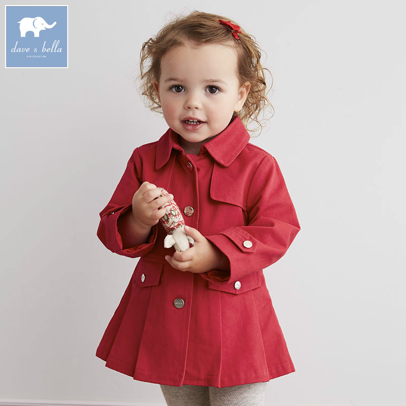 DB4867 dave bella infant baby girls lovely tops kidsd red coat children high quality clothes db2588 dave bella autumn unisex infant baby girls boys fashion t shirt kids cotton lovely tops children high quality tee