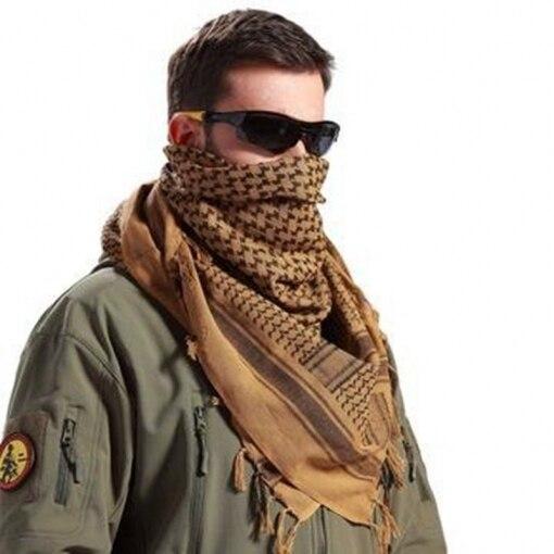 LOOGU Tático Militar Shemagh Lenço Árabe Para Mulheres ashion Cachecol  Wargame Sports & Outras Atividades Ao Ar Livre 100% Algodão