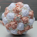 Stunning 5 Piece/lot Customized Wedding/Bridesmaid Bouquets Artificial Flowers Bridal Wedding Bouquets with Pearl Diamond W224