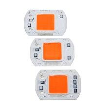 100 pces ac110v 220 v cob led chip phyto lâmpada espectro completo 20 w 30 w 50 diodo led crescer luzes fitoampy para mudas interior