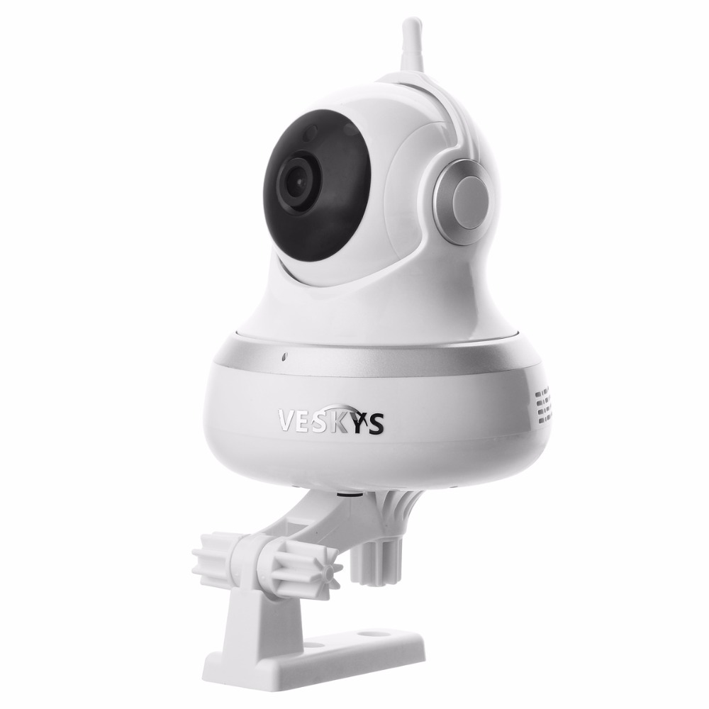 Two Way Audio 1.0 MP PT Indoor IP Camera Baby Monitor IP Camera CCTV Build-in Microphone Speaker Night Vision Motion Detection