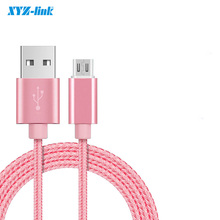 Micro USB Cable Phone Charging & Data Sync Cord Nylon Wire 1m For Xiaomi Samsung Huawei Android Smartphone Tablet