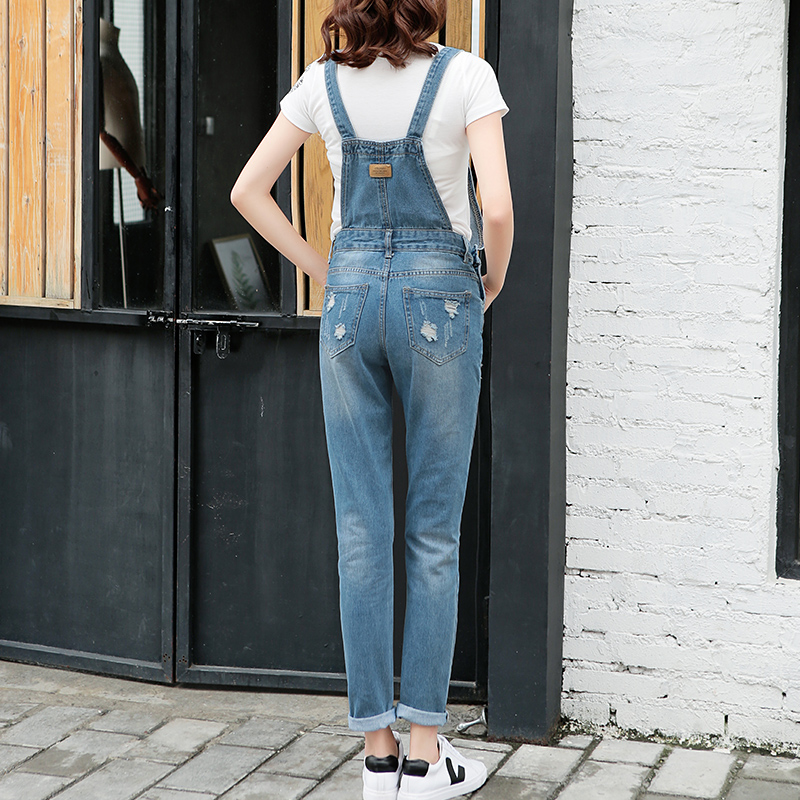 83e4f6cccfb New Arrival 2018 Women Ripped Denim Jumpsuits Women s Overalls Casual Sexy  Romper Plus Size Ladies Blue Denim Jeans Jumpsuit Hot-in Jumpsuits from  Women s ...
