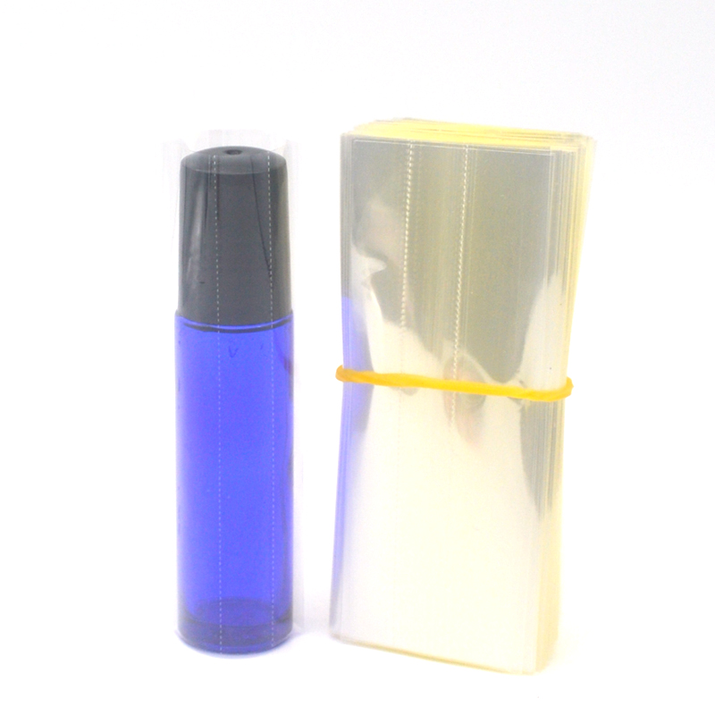 Купить с кэшбэком 200Pcs Clear PVC Heat Shrink Wrap Film for Essential Oils Roll Bottles 10ml PVC Shrink Tube
