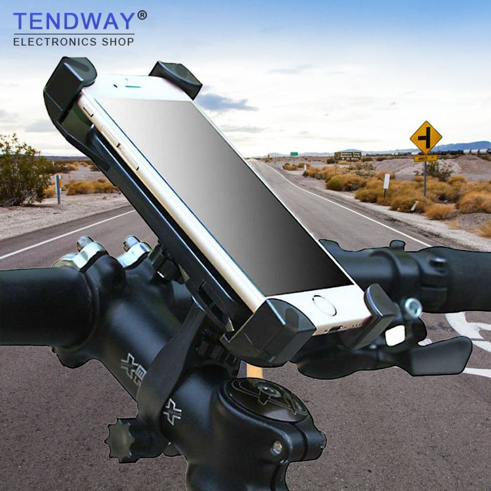 Tendway Bike Motorcycle Phone Holder 360 Rotatable Handlebar Bicycle Phone Holder Rearview Mirror Mobile Cell Phone Stand Holder