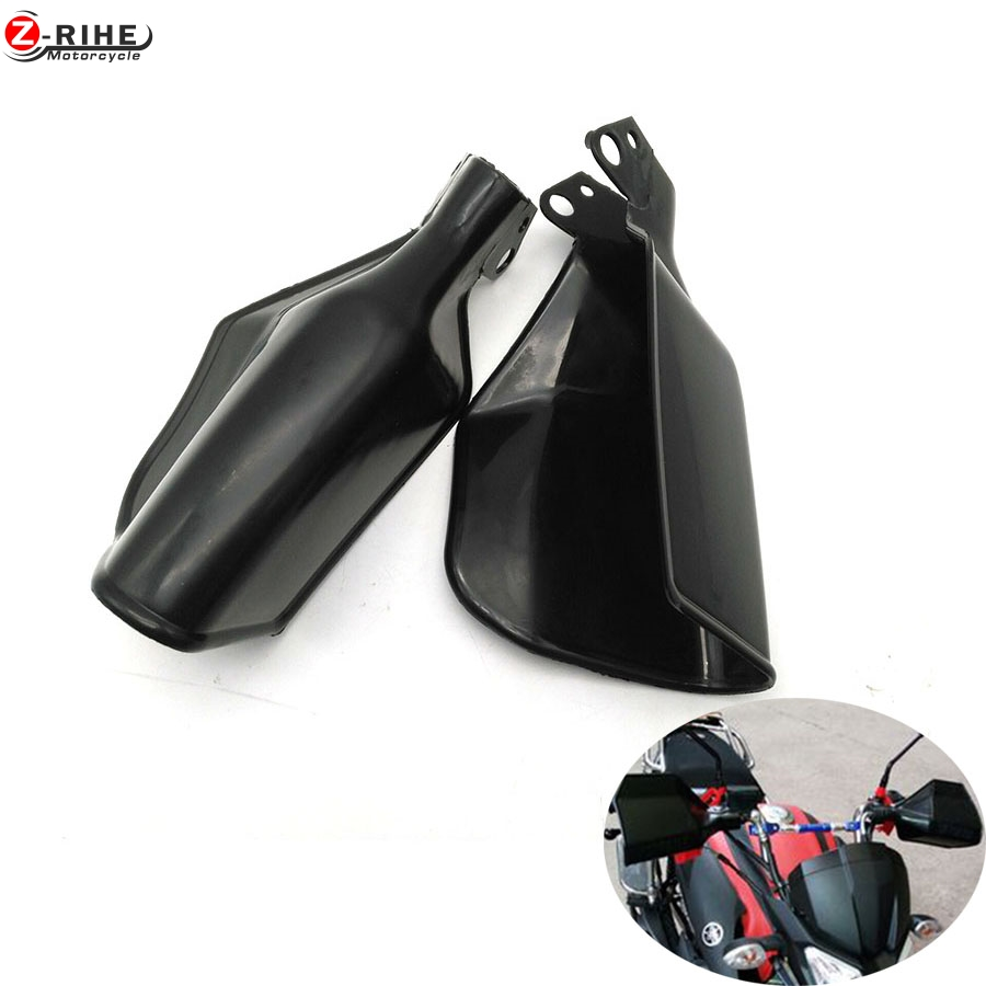 New Black 2pcs Motorcycle Handguards Hand Guards Protectors Motorbike  Universal for honda shadow dirt bike s1000rr suzuki retro atv motorcycle wind shield handle hand guards motocross transparent handguards for honda cbf600 sa cbf1000 a cb1100 gio nc750