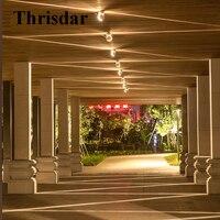 Thrisdar LED Window Wall Light 360 Degree Annular Contour Lamp Hotel Corridor Aisle Porch Light Outdoor Building Contour Light