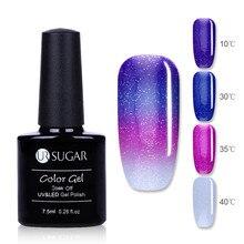 UR SUGAR Thermal Ultra-thin Glitter 3 Colors Soak Off UV Gel Color-chaging Snowflake Temperature Color Change Nail Art