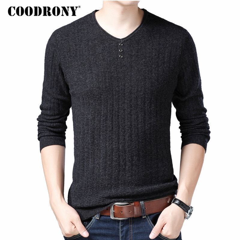COODRONY Brand Sweater Men Fashion Pull Homme Autumn Winter 100% Pure Merino Wool Sweaters Soft Warm Cashmere Pullover Men 93003