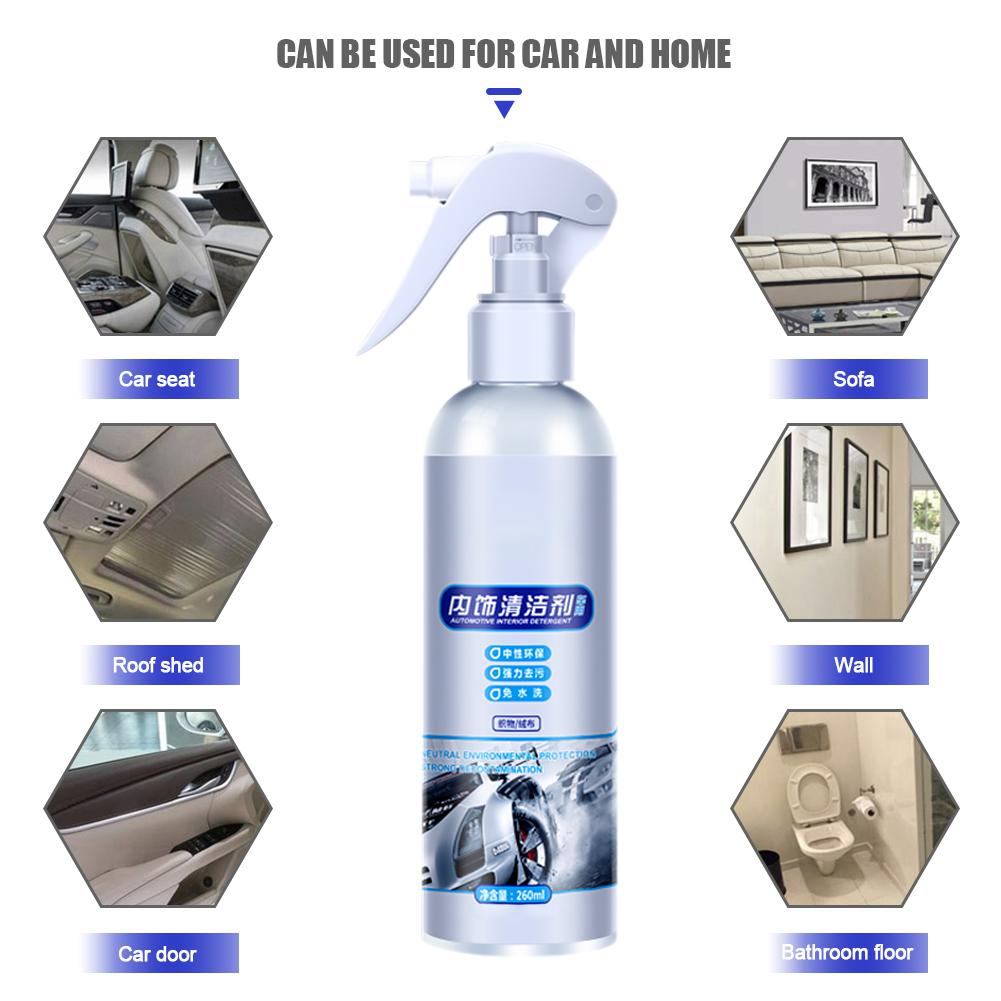 Image 3 - Car Interior Cleaning Agent Ceiling Cleaner Leather Flannel Woven Fabric Water free Cleaning Agent Auto Roof Dash Cleaning Tool-in Leather & Upholstery Cleaner from Automobiles & Motorcycles