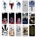 Película Personaje de Star Wars Storm Trooper Darth Vader Yoda R2-D2 BB-8 Softphone caso para iphone 7 plus 7 6 más 6 s 5 s 5c 4S sí
