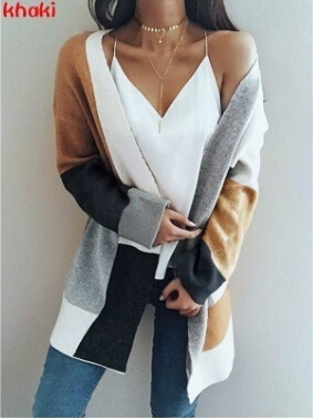 Autumn Cardigan Women Knitted Sweaters Casual Winter Cardigan Coat Long Knitted Oversized Sweaters Korean Style Women Coat Top