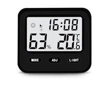 Elektronische Wekker Thuis Babykamer Hoge Precisie Indoor Muur Gemonteerde Backlight Thermometer En Hygrometer