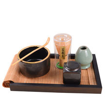 XMT-HOME bamboo matcha whisk set japanese green tea whick bowls tray plate matcha whisk holder tea powder cans whisk accessories(China)