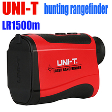 Buy online UNI-T LR 1500m Handheld Monocular Laser Range Finder 6X Telescope laser Distance Meters Golf Hunting tools Height and angle test