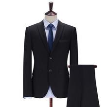 2019 New Arrivals Groom Tuxedos Suits Men Prom Suits Formal Wear Business Regular Fit Wedding Suit Jacket Pants (Jacket+Pants)