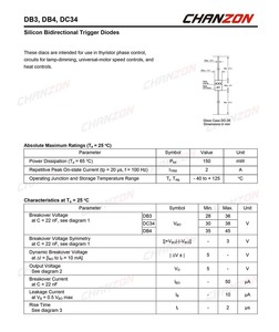 (100 шт.) двунаправленный триггерный диод DB3 DIAC 2A 32V 150mW DO-35 (DO-204AH) DB-3 осевые кремниевые диоды DB 3