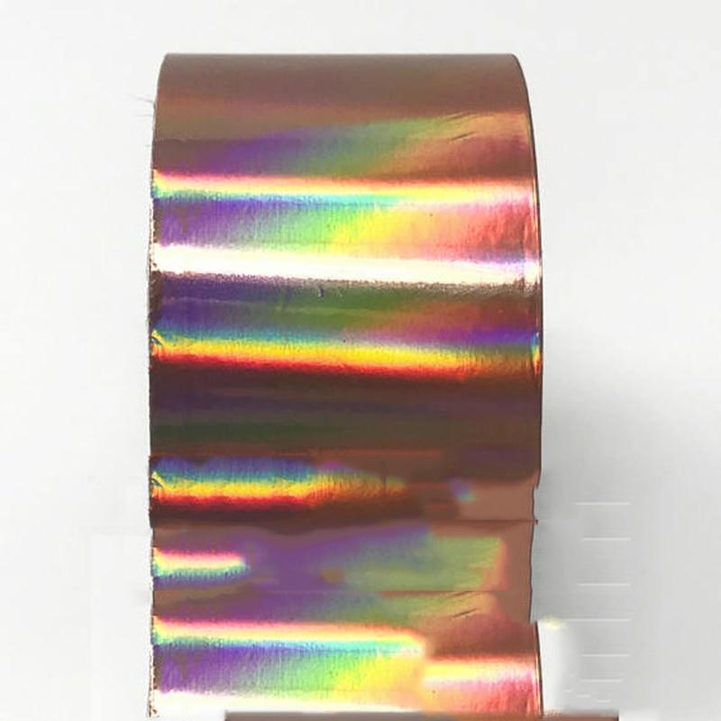 120m Rose Gold Holographic Nail Foil Holo 4CM*120M Art Decal Manicure Sticker,Transfer foil,