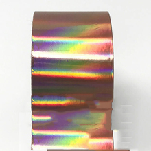 120m Rose Gold Holographic Nail Foil Holo 4CM*120M Gold Nail Art Decal Holo Manicure Nail Decal Nail Sticker,Transfer foil, 1 roll 120m 4cm holographic nail foil rainbow transfer foil sticker finger wraps nail art diy adhesive manicure beauty decals