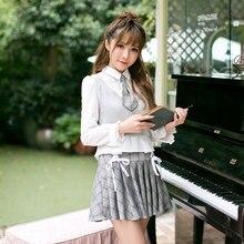 Princess sweet lolita Candy Rain shirt long sleeves knitted sweater sweet slim POLO collar bottoming shirt C22CD7184