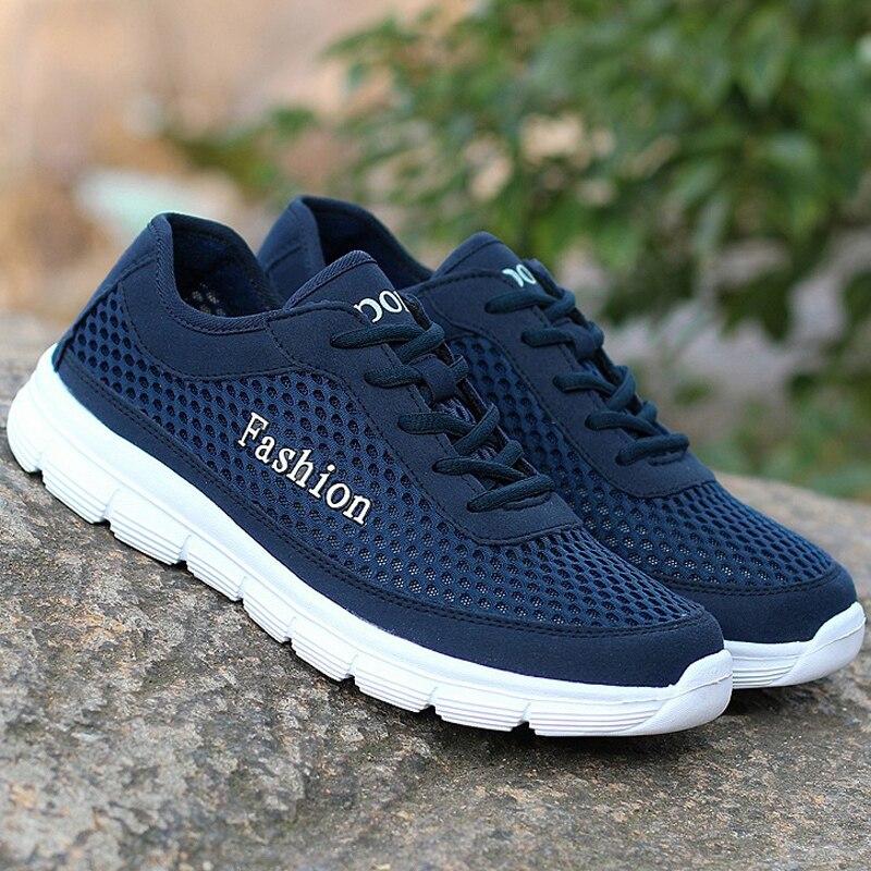 Zapatos ocasionales de los hombres luz transpirable air mesh lace-Up Eva primave