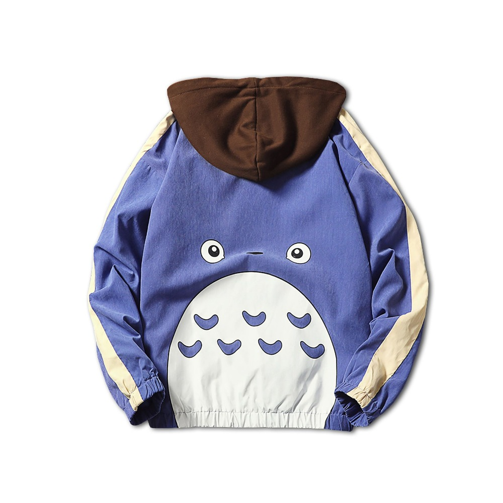 Anime mi vecino Totoro béisbol Chaquetas Totoro Cartoon zipper bomber chaqueta primavera otoño Totoro Cosplay traje HOODIE 011502