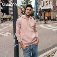 SIMWOOD 2019 spring Hoodies Men Brand Letter Print Hoodie Pullover High Quality Hip Hop Tracksuits Male Sweatshirts 180446