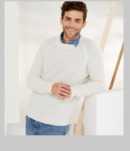 100%Cashmere Sweater Winter Men's Fashion White Pullover O-Neck Warm Natural Fabric Extra Soft High Quality Free Shipping