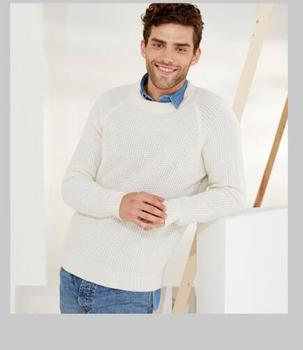 цена на 100%Cashmere Sweater Winter Men's Fashion White Pullover O-Neck Warm Natural Fabric Extra Soft High Quality Free Shipping