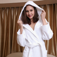 Special Offer Women's Solid Color Bride Robe Full Sleeve Cotton Cotton Sleep Lounge Robes Kimono Bride Bath Robe