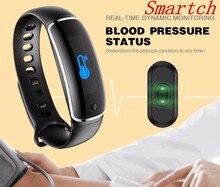 Smartch Smart Band V8 Приборы для измерения артериального давления сердечного ритма Мониторы Wateproof сообщение напоминание Pulsera inteligente умный Браслет android IO